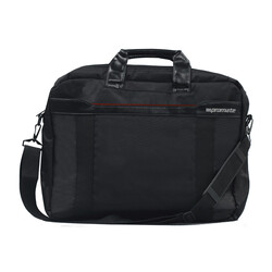 Promate Solo-MB Messenger Bag with Superior Quality Design for 15.6 Inch Laptop, Black