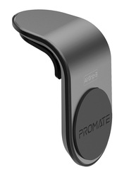 Promate AirGrip-3 Universal Air Vent Magnetic Holder with Quick Clip Mounting, Secure Vent Grip, Anti-Slip and 360 Degree Rotation, GPS, Grey