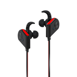 Promate Fluid Bluetooth Earphones, Wireless Bluetooth 4.1 Magnetic with HD Sound Quality, Sweatproof, Secure-Fit, Built-In Mic and Noise Isolation, Red