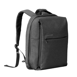 Promate CityPack-BP Laptop Backpack, Heavy-Duty Canvas Styled Durable with Multiple Storage, Quick Access Zipper and Secure Anti-Theft Design for Laptop, Black
