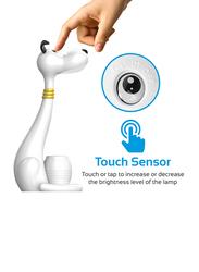 Promate Goofy Kids Night Light, Portable Pen-Holder Touch Sensitive LED Night Light, 3 Level Dimmable Reading Light, 3 Colour, Eye Safe Soothing Light for Studying/Reading/Table/Home, White