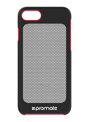 Promate Steel-i7 iPhone 7 Cover Case, Ultra-Light Protective Snap-On Case with CoolGrid Mesh, Red