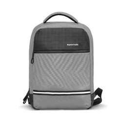 Promate Explorer-BP Travel Laptop Backpack, Anti-Theft Slim Durable for 13 Inch Laptop with Water Resistant, Soft Adjustable Padded Straps, Multiple Storage and USB Charging Port, Grey