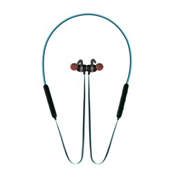 Promate Spicy-1 Bluetooth Headphones, High Definition Wireless Neckband with Built-In Microphone, Noise Cancelling and Magnetic Earphones, Blue