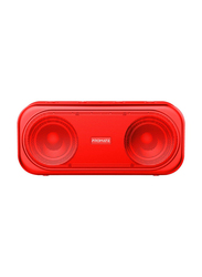 Promate Otic 10W Wireless Bluetooth V5.0 Stereo Speaker, with Built-In Mic, 2000mAh Rechargeable Battery, USB Port, AUX and MicroSD Card Slot, Red