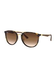 Ray-Ban Full-Rim Round Tortoise Sunglasses Unisex, Brown Lens, 0RB4285 710/13, 55/20/145