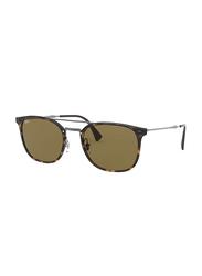 Ray-Ban Full Rim Square Tortoise/Gunmetal Sunglasses for Men, Brown Classic Lens, RB4286, 55/21/140