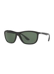 Ray-Ban Polarized Full-Rim Square Black Sunglasses Unisex, Green Lens, 8351 62199A, 60/17/140