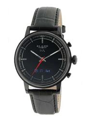 Blade Smartwatch Analog/Digital Unisex Watch with Leather Band, Water Resistant, 3500N-1HA-NNN, Black