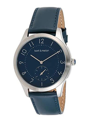 Bart & Melon Analog Unisex Watch with Leather Band, Water Resistant, 15-NG013-2SBB, Blue