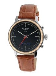 Blade Smartwatch Analog/Digital Unisex Watch with Leather Band, Water Resistant, 3500T-1HA-TNO, Brown-Black/Gold