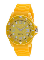 Bart & Melon Analog Unisex Watch with Silicone Band, Water Resistant, 11-NG002Y, Yellow