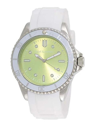 Bart & Melon Analog Unisex Watch with Silicone Band, Water Resistant, 12-NU010 WE, White-Green