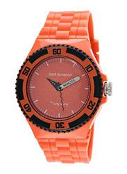 Bart & Melon Analog Unisex Watch with Polyurethane Band, Water Resistant, 11-NU005-AAA, Orange