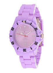 Bart & Melon Analog Unisex Watch with Polycarbonate Band, Water Resistant, 11-NG001-V, Purple