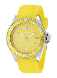 Bart & Melon Analog Unisex Watch with Silicone Band, Water Resistant, 12-NU010SYY, Yellow