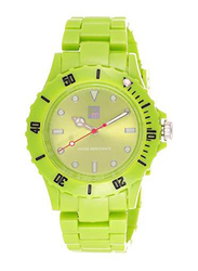 Bart & Melon Analog Unisex Watch with Polycarbonate Band, Water Resistant, 11-NG001-G, Green