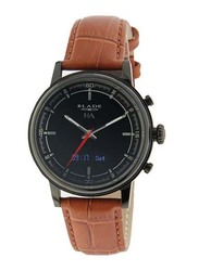 Blade Smartwatch Analog/Digital Unisex Watch with Leather Band, Water Resistant, 3500N-2HA-NNO, Brown-Black