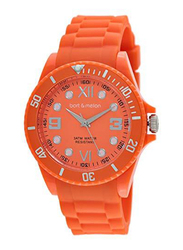 Bart & Melon Analog Unisex Watch with Silicone Band, Water Resistant, 11-NG002O, Orange