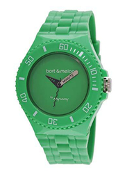 Bart & Melon Analog Unisex Watch with Polyurethane Band, Water Resistant, 11-NU006-GGG, Green