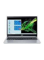 "Acer Aspire 5 A515-55-378V Laptop, 15.6"" FHD Display, Intel Core i5-1005G1 10th Gen 1.2GHz, 128GB SSD, 4GB RAM, Intel UHD Graphics, EN KB, Win 10, NX.HSMAA.001, Silver"