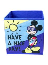 Mickey Mouse Folding Storage Box, Royal Blue