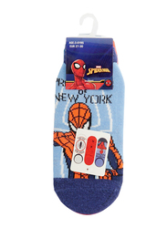 Marvel Spiderman Protector Invisible Socks Set for Kids, 3 Pieces, 6-8 Years, Multicolor