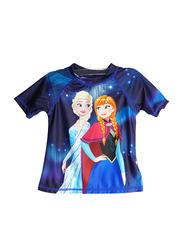 Frozen Swim Girls T-Shirt, 2 Years, Blue