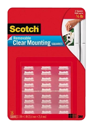 3M Scotch 859 Removable Mounting Squares, 25.4 x 25.4mm, Clear