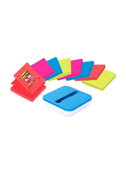 3M Post-It Val-SS8P-R330 Value Pack with Dispenser and 8 Pop Up Assorted Pads, Multicolor