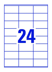 Avery 3475 Multipurpose Labels, 24 x 100 Pieces, White