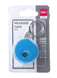 Deli 8214 Measure Tape, 1.5 x 7.5mm, Assorted Color