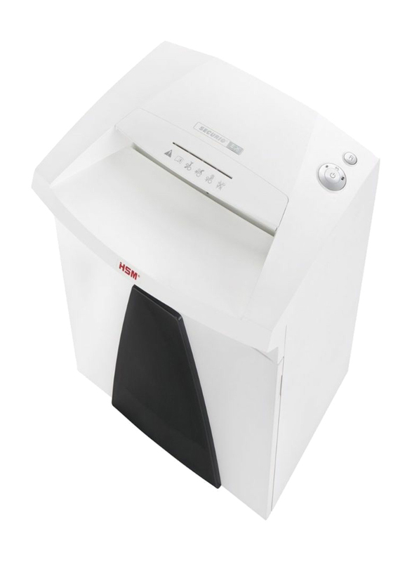 HSM B26 Cross Cut Shredder, 4.5 x 30mm, White