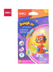 Deli ED85200 Soft Clay, 6 Pieces, Multicolor
