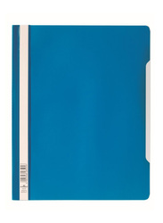 Durable 2570-06 PVC Clear View File Folder, A4 Size, Blue