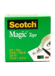 3M Scotch 810 Magic Tape, 19mm x 32.9 meters, Clear