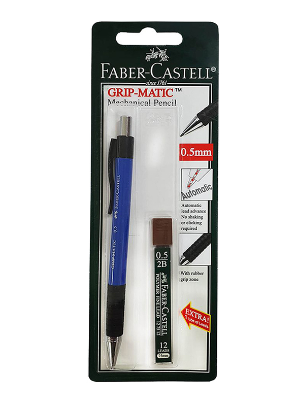 Faber-Castell Blister 131801 Mechanical Pencil, 0.5mm, Blue