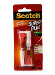 3M Scotch AD112 Super Glue Gel, 2 Pieces x 2gm, White