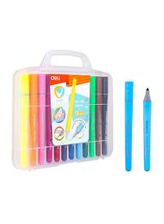 Deli EC10604-FELT U-Touch Color Felt Pen, 12 Pieces, Multicolor