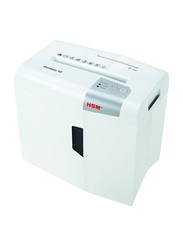 HSM X5 Cross Cut Shredstar with CD Cutting Unit, 4.5 x 30mm, White