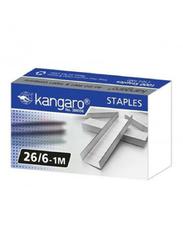 Kangaro 26/6 Munix Staple Pins, 1mm, 1000 Pieces, Silver