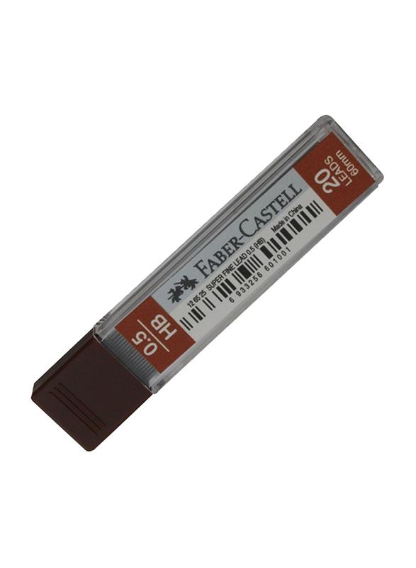 Faber-Castell 126525 Mechanical Pencil Lead, 0.5 HB, Deep Black