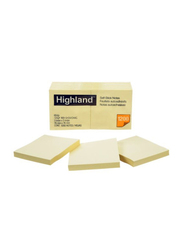 3M Highland 6549 Self-Stick Notes, 76 x 76mm, 12 x 100 Sheets, Yellow