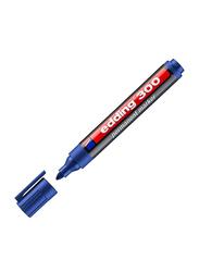 Edding E-300 Permanent Marker with Bullet Nib, Blue