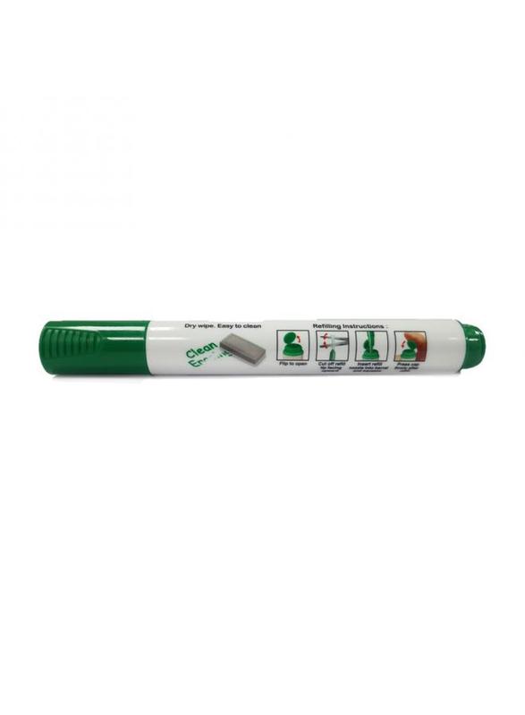 Faber-Castell Refillable Chisel Tip White Board Marker, Green