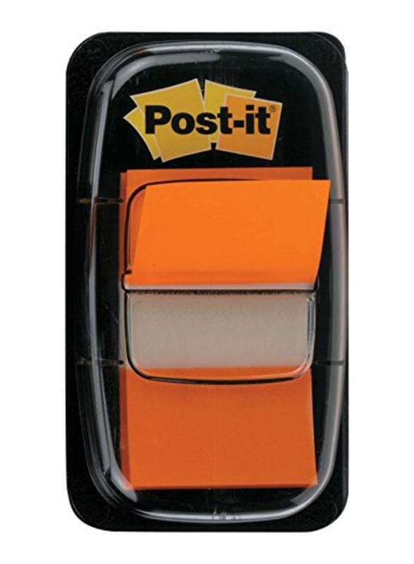 3M Post-It 680-4 Tape Flags, 25.4 x 43.18mm, 50 Sheets, Orange