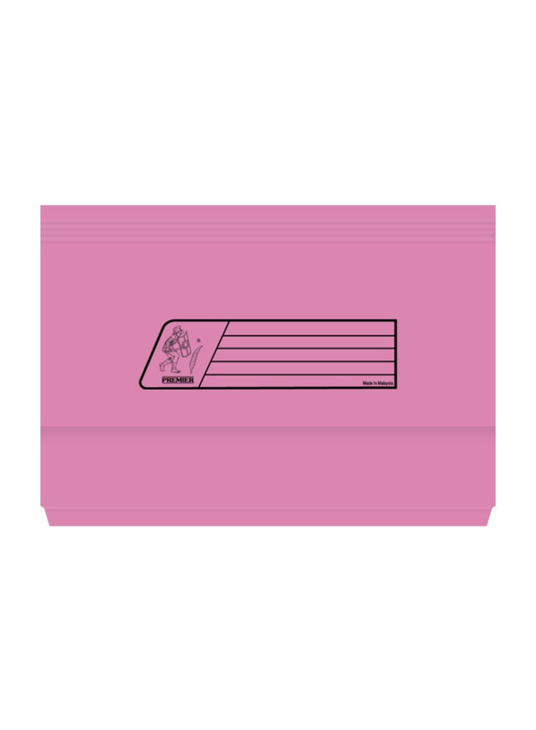 Premier 220GSM Full Scape Size Document Wallet, Pink