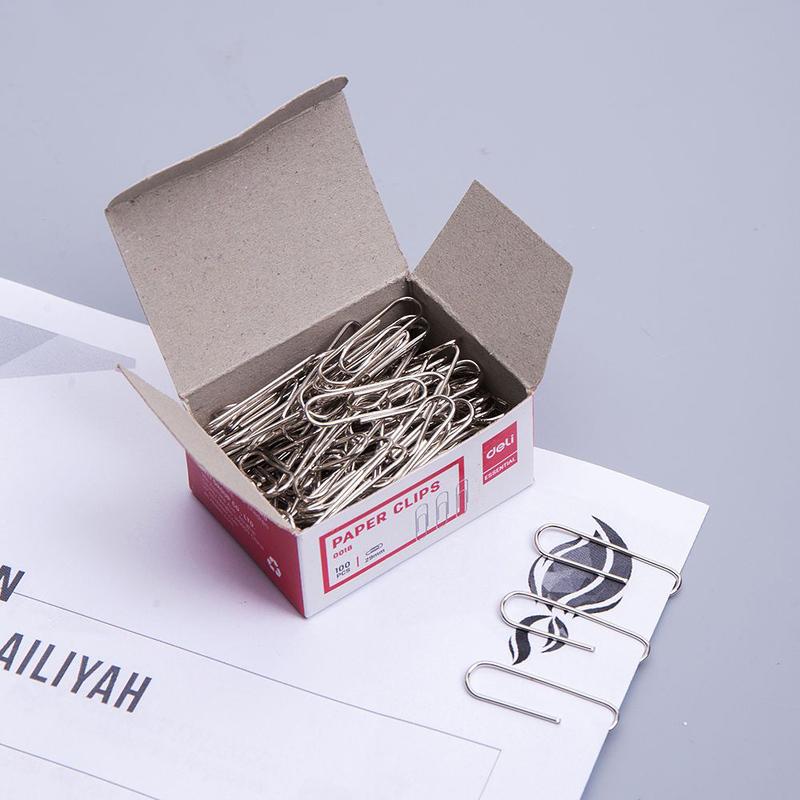 Deli E0018 Paper Clip, 29mm, Silver