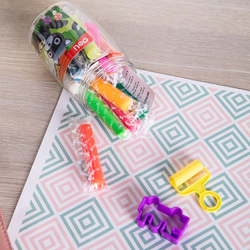Deli D75246 12 Colors Clay Dough, 140 grams, Multicolor