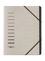 Durable 40059-21 Pagna Signature 12 Compartment File, A4 Size, Light Grey
